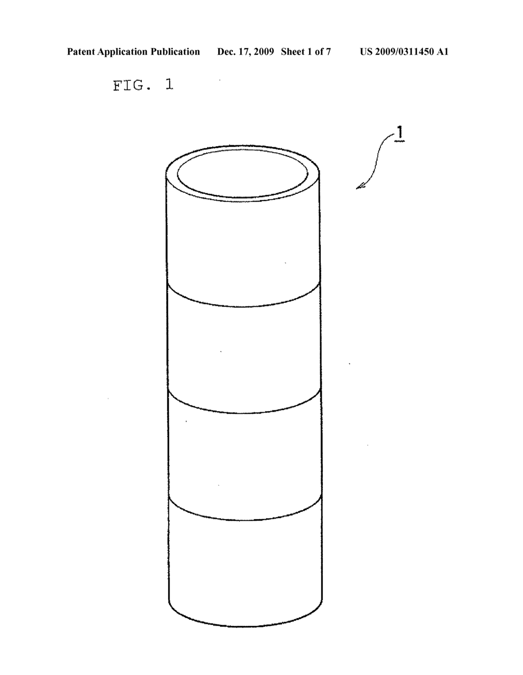 Tubular container made of carbon - diagram, schematic, and image 02