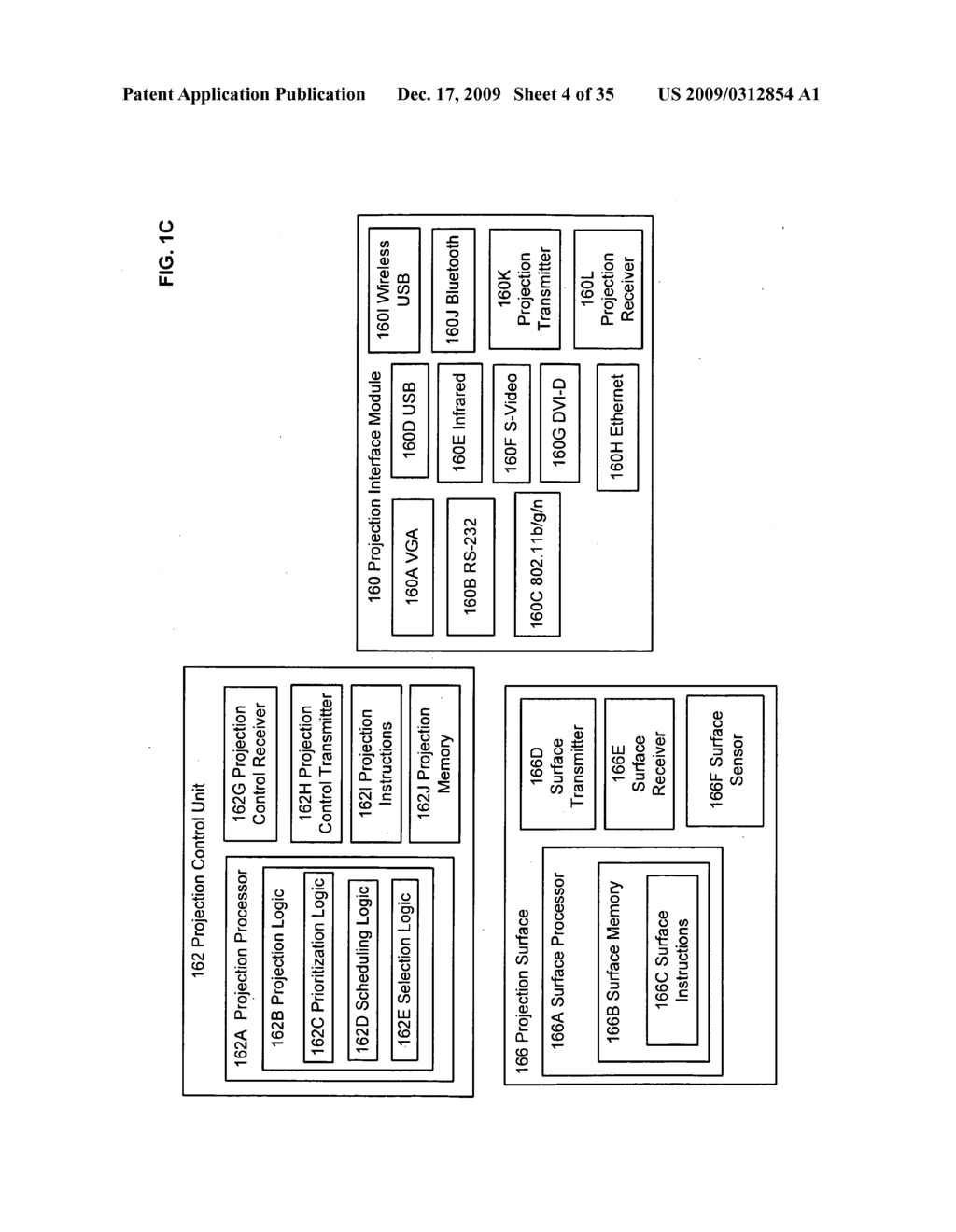 Methods and systems for transmitting information associated with the coordinated use of two or more user responsive projectors - diagram, schematic, and image 05