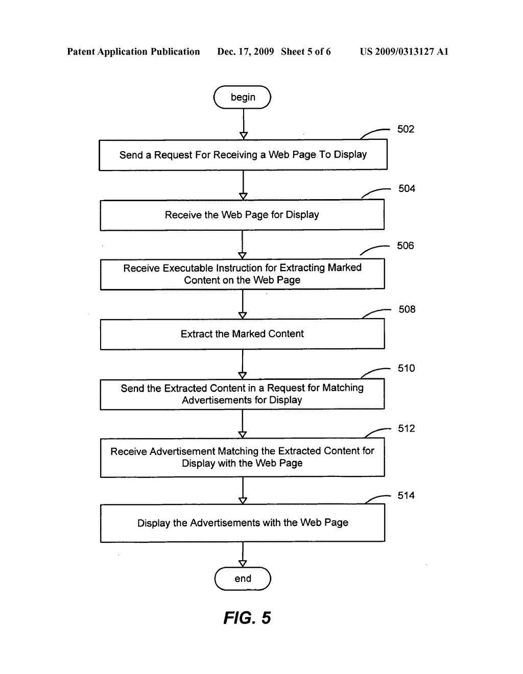 SYSTEM AND METHOD FOR USING CONTEXTUAL SECTIONS OF WEB PAGE CONTENT FOR SERVING ADVERTISEMENTS IN ONLINE ADVERTISING - diagram, schematic, and image 06
