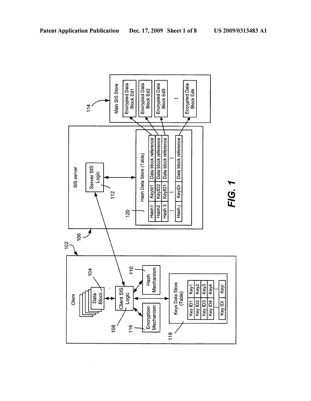 Single Instance Storage of Encrypted Data - diagram, schematic, and image 02