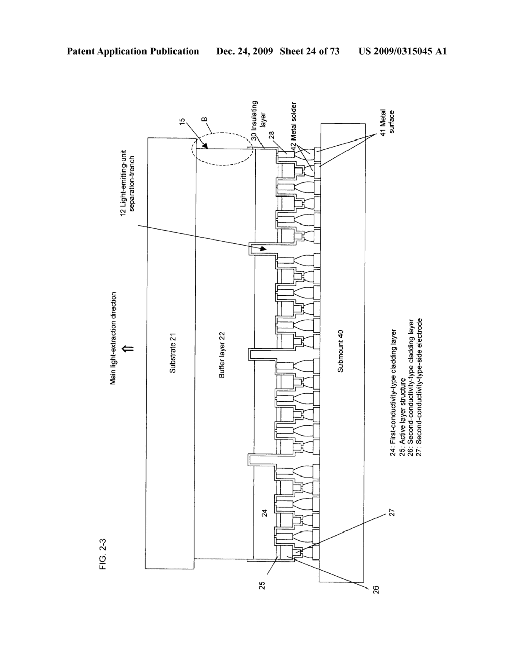 INTEGRATED SEMICONDUCTOR LIGHT EMITTING DEVICE AND METHOD FOR MANUFACTURING SAME - diagram, schematic, and image 25