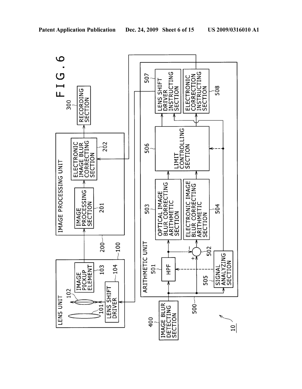 IMAGE PICKUP DEVICE, IMAGE BLUR CORRECTING METHOD, AND PROGRAM - diagram, schematic, and image 07
