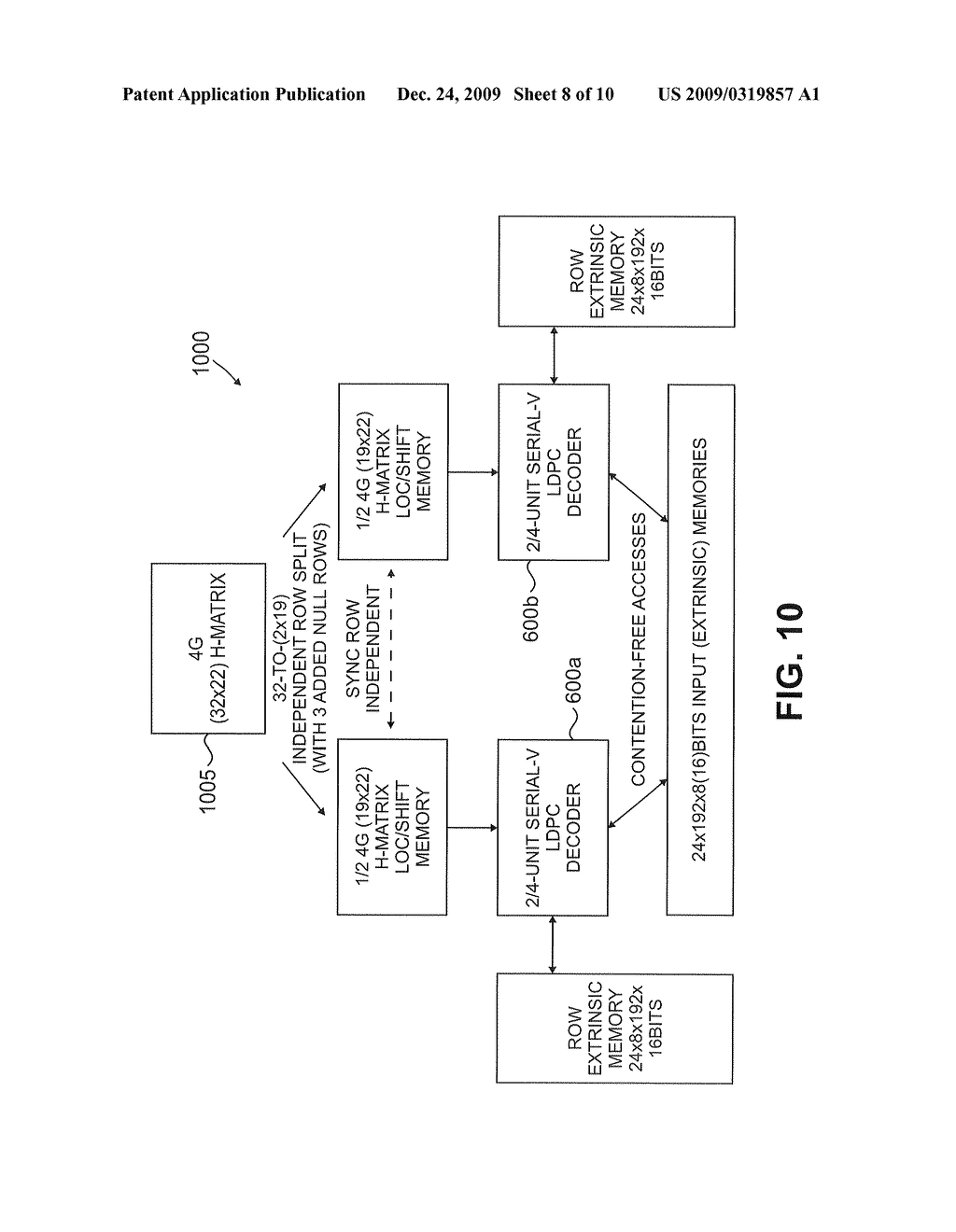 Method and apparatus for parallel processing multimode LDPC decoder - diagram, schematic, and image 09