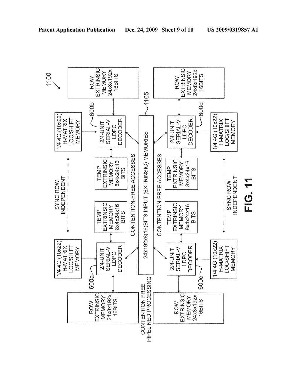 Method and apparatus for parallel processing multimode LDPC decoder - diagram, schematic, and image 10