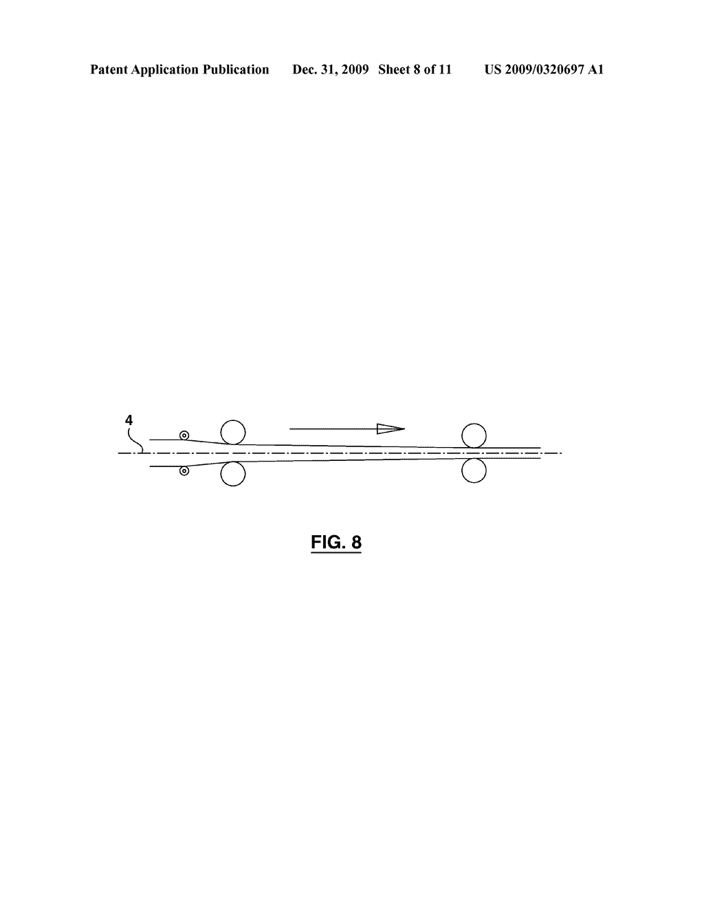 CONTINUOUS PRESS AND METHOD FOR MANUFACTURING COMPOSITE MATERIALS WITH PROGRESSIVE SYMMETRICAL PRESSURE - diagram, schematic, and image 09