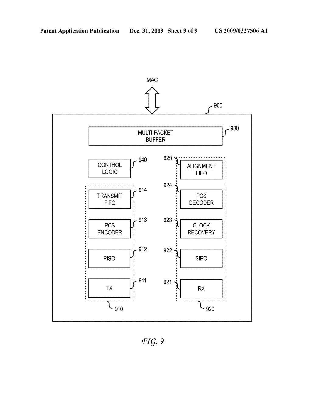 SYSTEM AND METHOD FOR CONTROLLING A PHY ATTACHED TO A MAC INTERFACE FOR ENERGY EFFICIENT ETHERNET - diagram, schematic, and image 10
