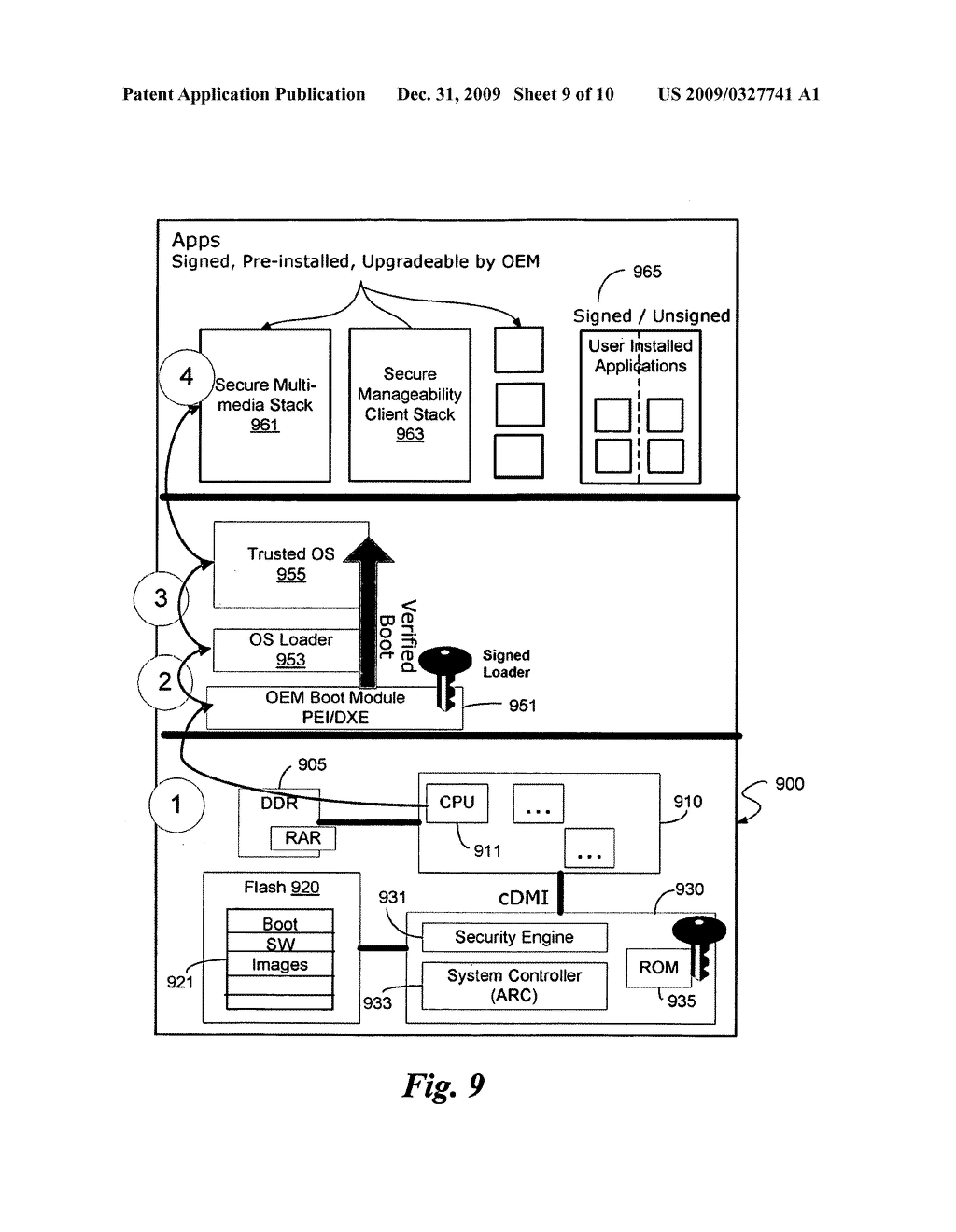 SYSTEM AND METHOD TO SECURE BOOT UEFI FIRMWARE AND UEFI-AWARE OPERATING SYSTEMS ON A MOBILE INTERNET DEVICE (MID) - diagram, schematic, and image 10