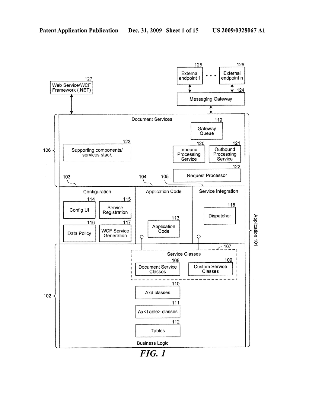 UNIFIED, CONFIGURABLE SERVICES STACK FOR INTEGRATION OF ENTERPRISE APPLICATIONS - diagram, schematic, and image 02