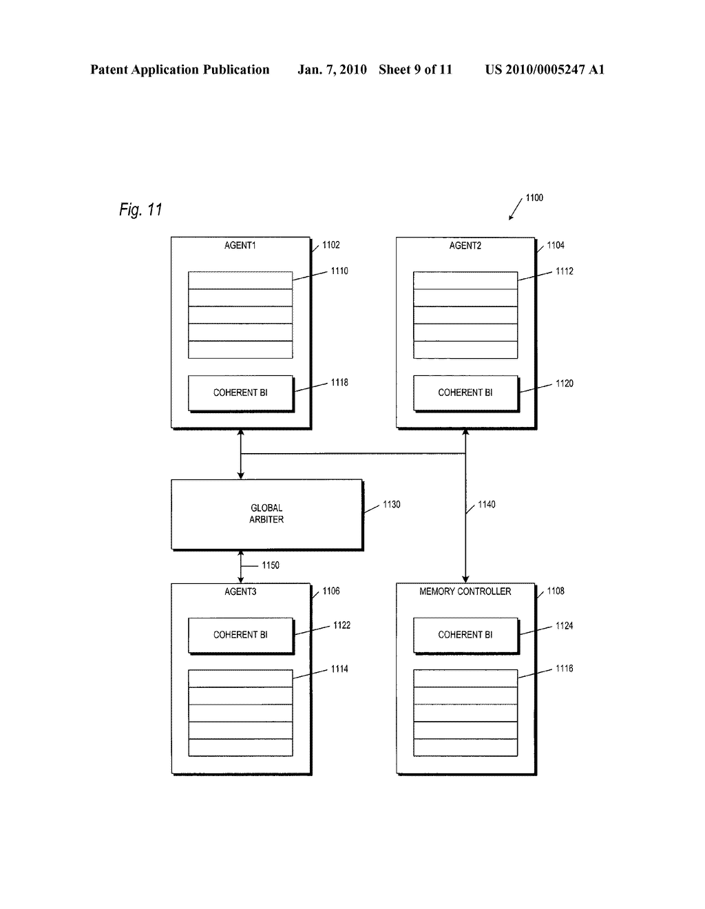 Method and Apparatus for Global Ordering to Insure Latency Independent Coherence - diagram, schematic, and image 10