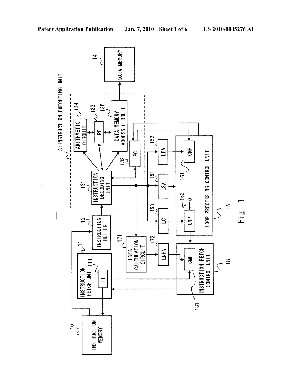 INFORMATION PROCESSING DEVICE AND METHOD OF CONTROLLING INSTRUCTION FETCH - diagram, schematic, and image 02