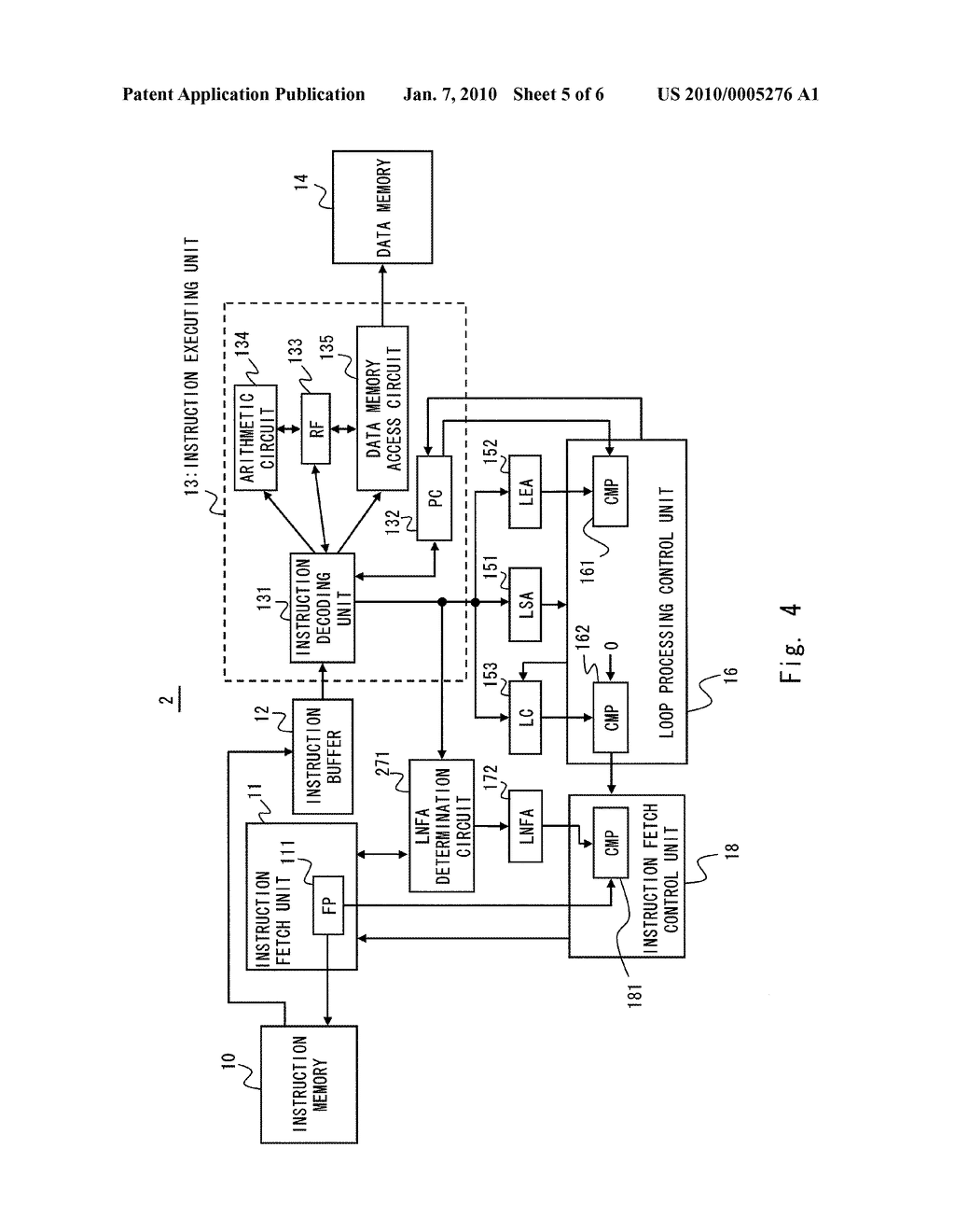 INFORMATION PROCESSING DEVICE AND METHOD OF CONTROLLING INSTRUCTION FETCH - diagram, schematic, and image 06
