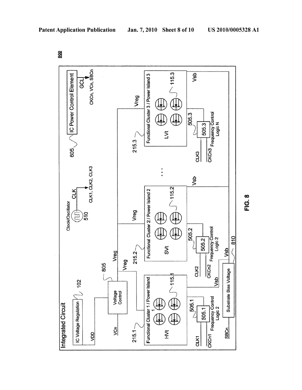 Integrated Circuit with Modular Dynamic Power Optimization Architecture - diagram, schematic, and image 09