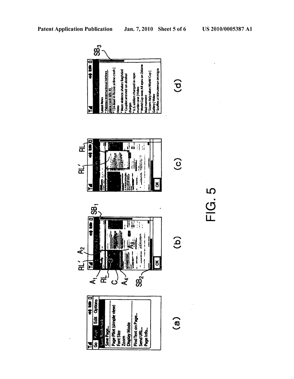 Terminal, content display method, and content display program - diagram, schematic, and image 06