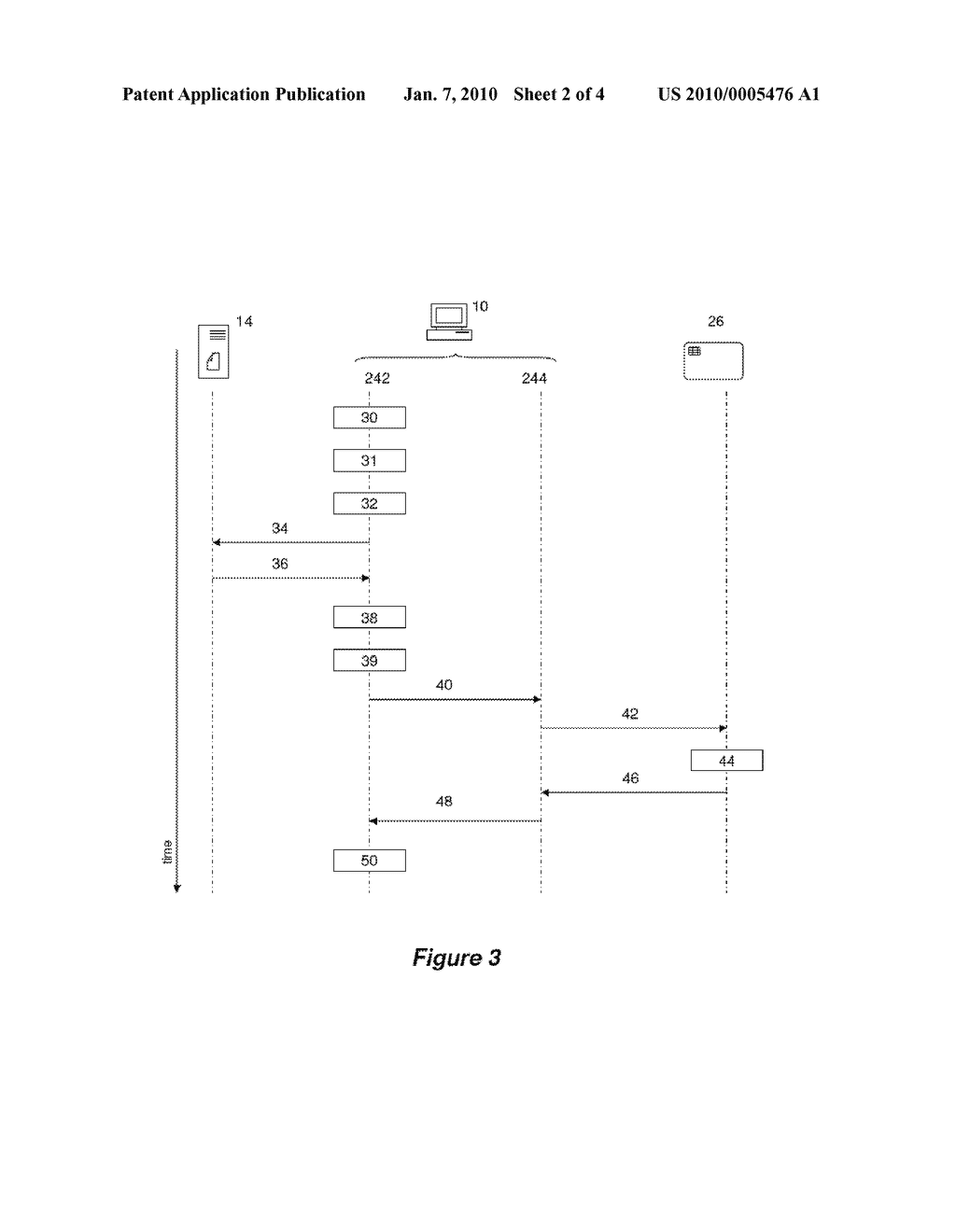 MOBILE ELECTRONIC DEVICE INCLUDING A PORTABLE APPLICATION AND A SECURED MODULE ABLE TO COMMUNICATE WITH EACH OTHER, AND ASSOCIATED COMMUNICATION METHOD - diagram, schematic, and image 03