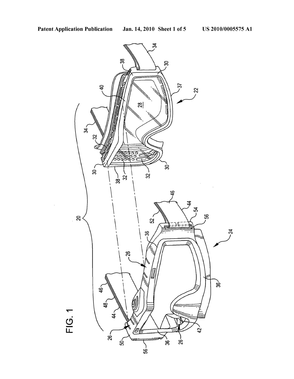 GOGGLES WITH REMOVABLE FRAME AND METHODS OF MAKING AND USING THE SAME - diagram, schematic, and image 02