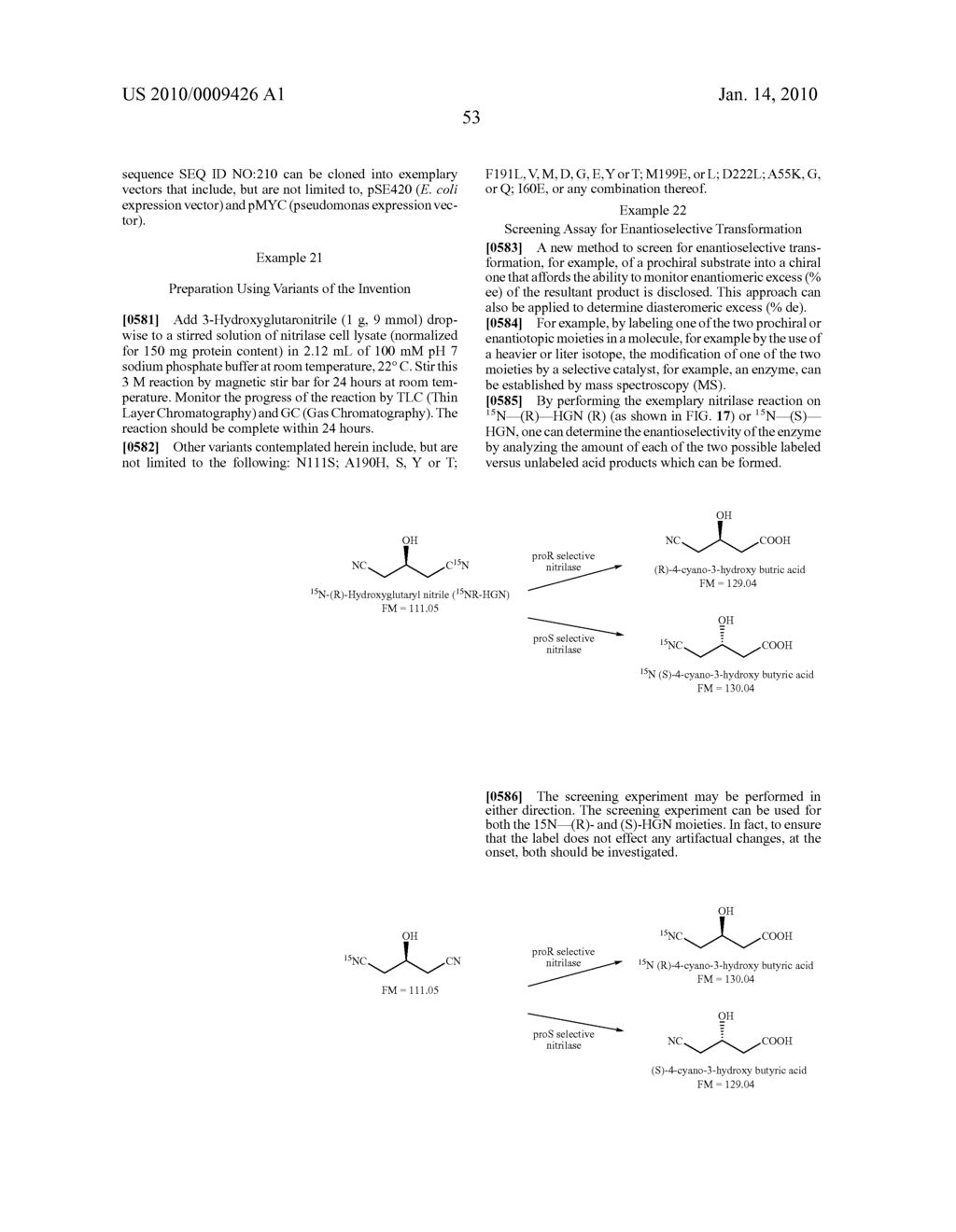 Nitrilases, Nucleic Acids Encoding Them and Methods for Making and Using Them - diagram, schematic, and image 96