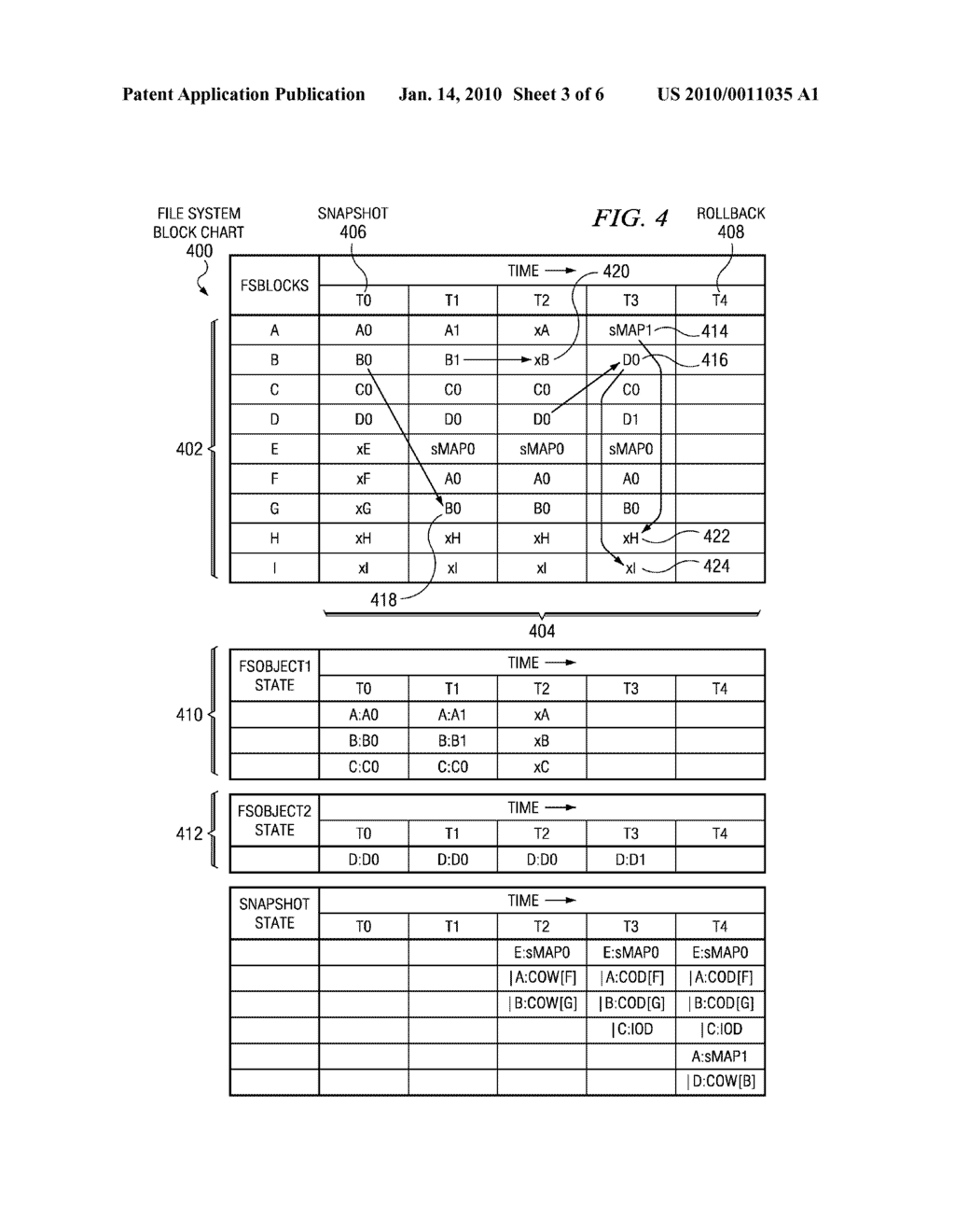 Method and System for Handling Reallocated Blocks in a File System - diagram, schematic, and image 04