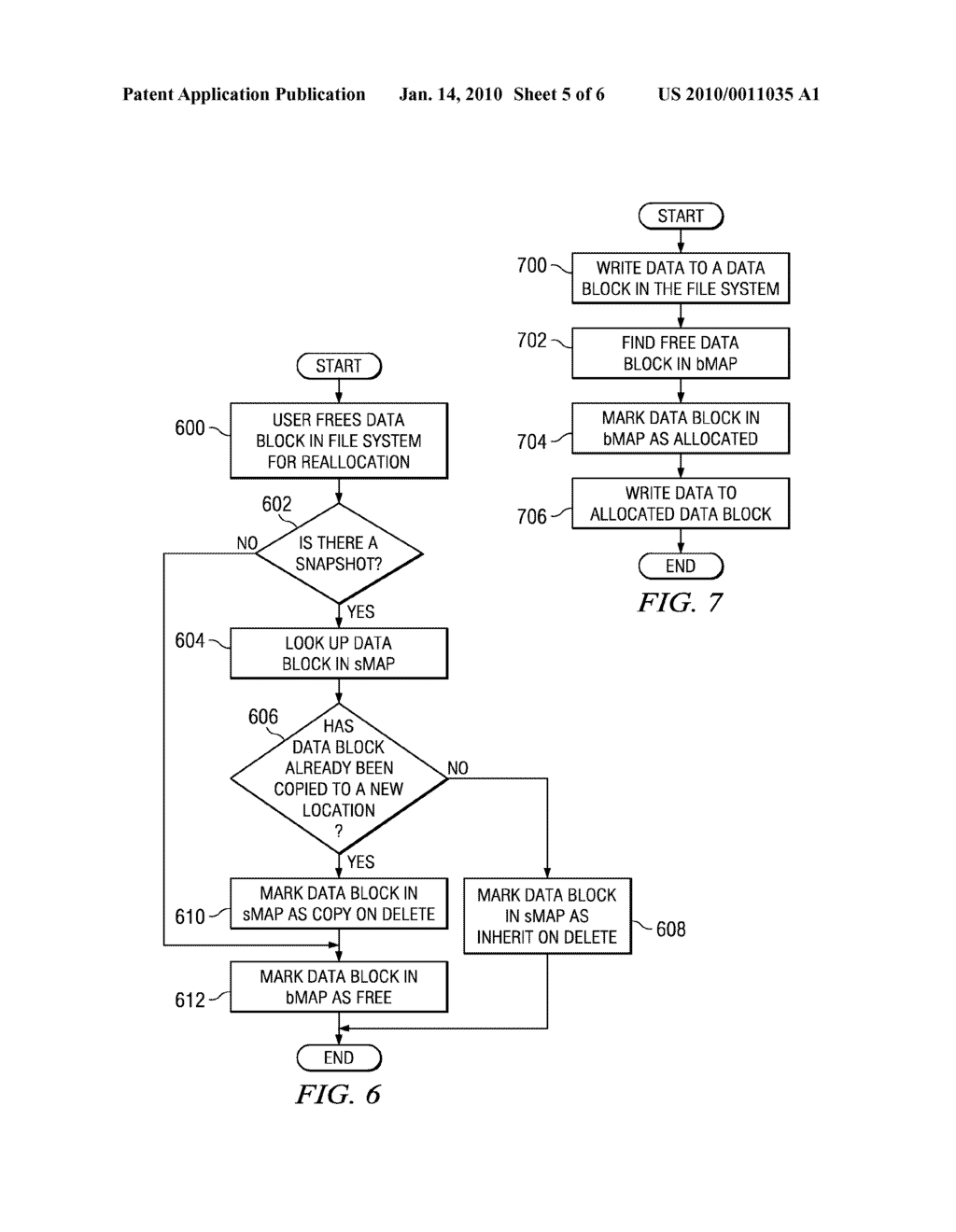 Method and System for Handling Reallocated Blocks in a File System - diagram, schematic, and image 06