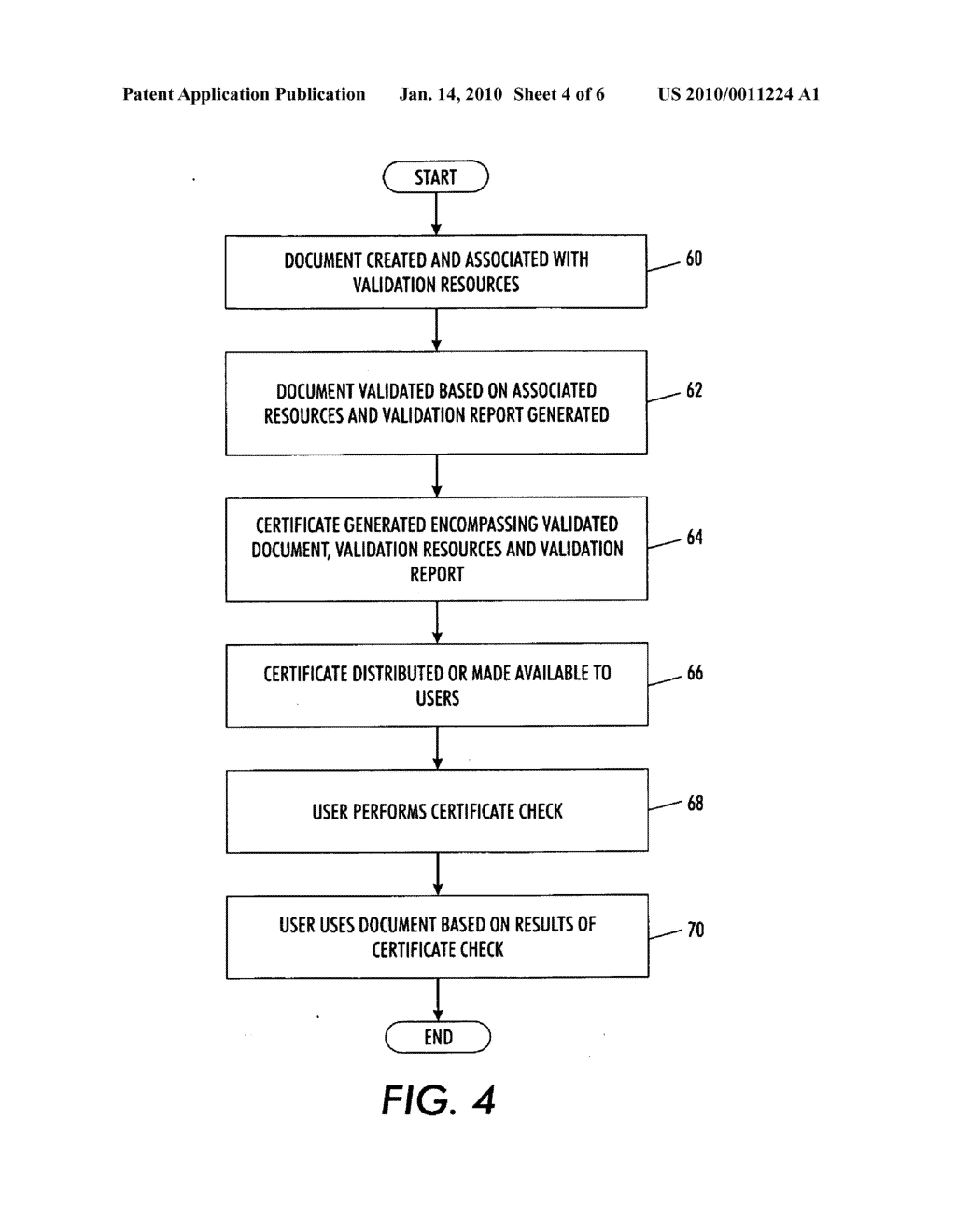 SYSTEM AND METHOD FOR PRODUCING AND CHECKING VALIDATION CERTIFICATES - diagram, schematic, and image 05