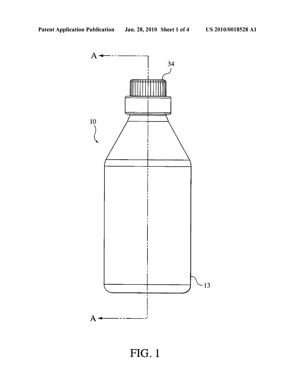 BOTTLE CLOSURE WITH SELF-SEALING MEMBRANE - diagram, schematic, and