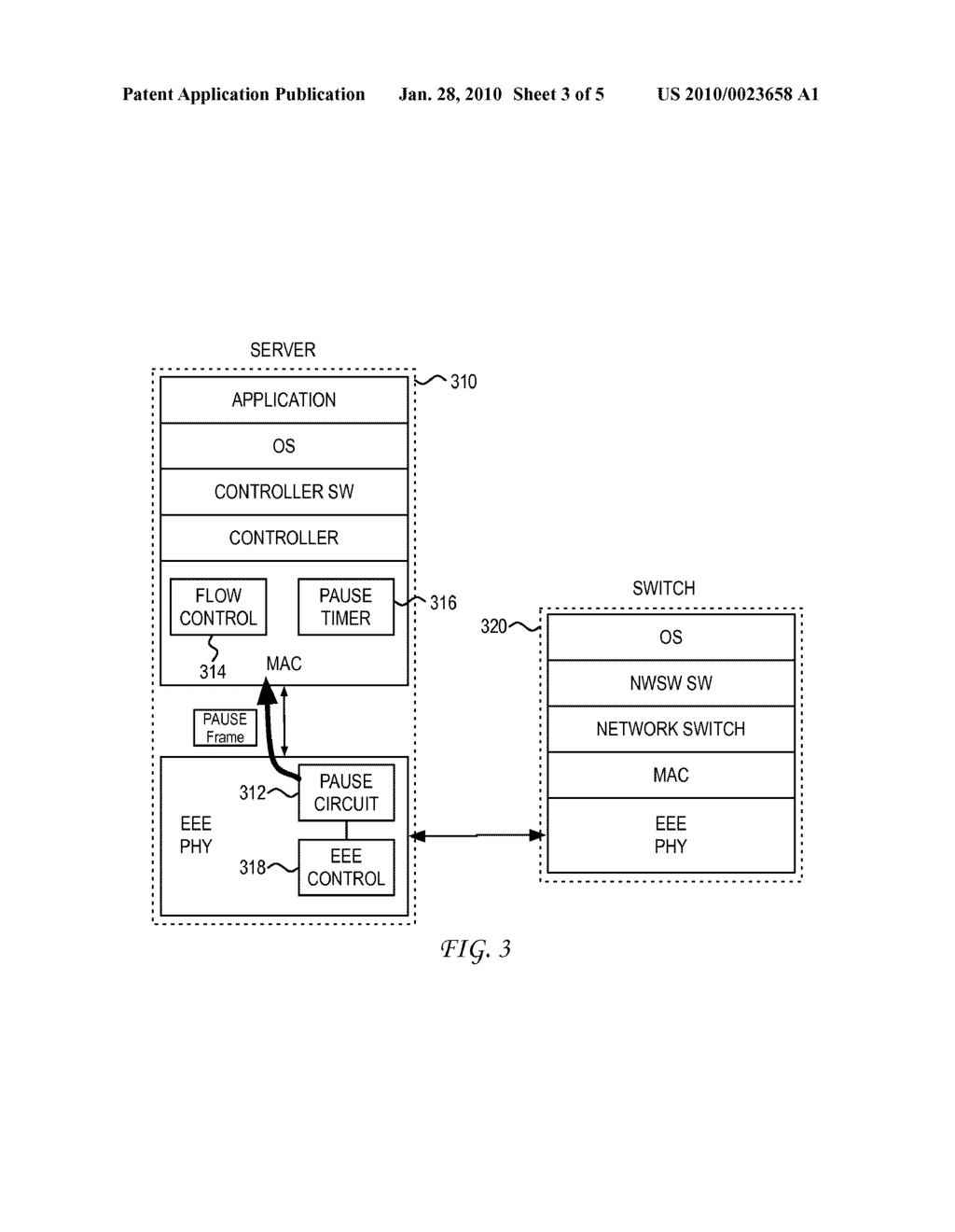 SYSTEM AND METHOD FOR ENABLING LEGACY MEDIUM ACCESS CONTROL TO DO ENERGY EFFICENT ETHERNET - diagram, schematic, and image 04