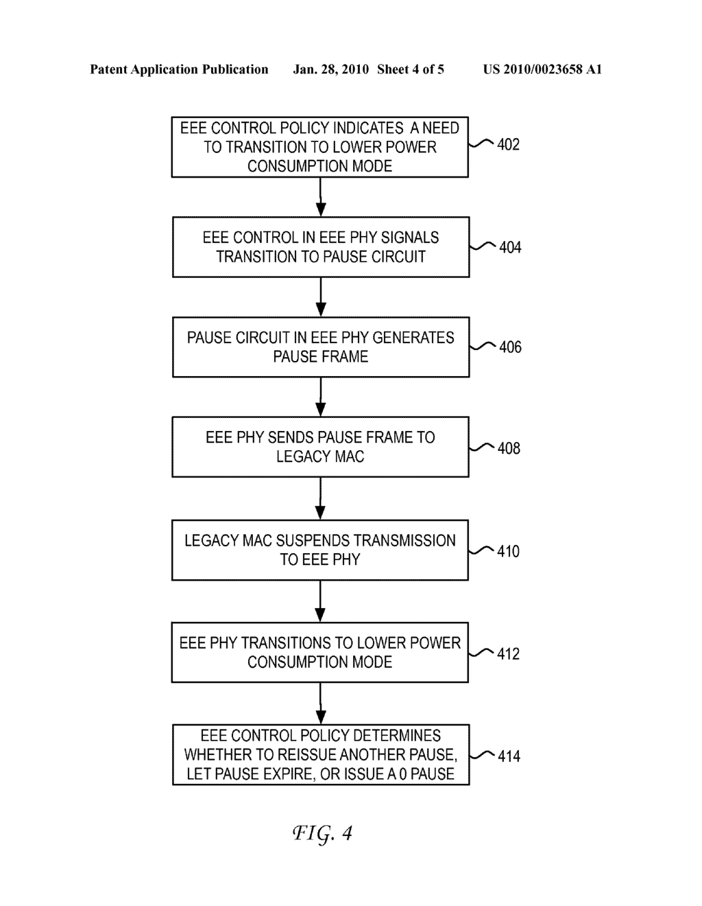 SYSTEM AND METHOD FOR ENABLING LEGACY MEDIUM ACCESS CONTROL TO DO ENERGY EFFICENT ETHERNET - diagram, schematic, and image 05