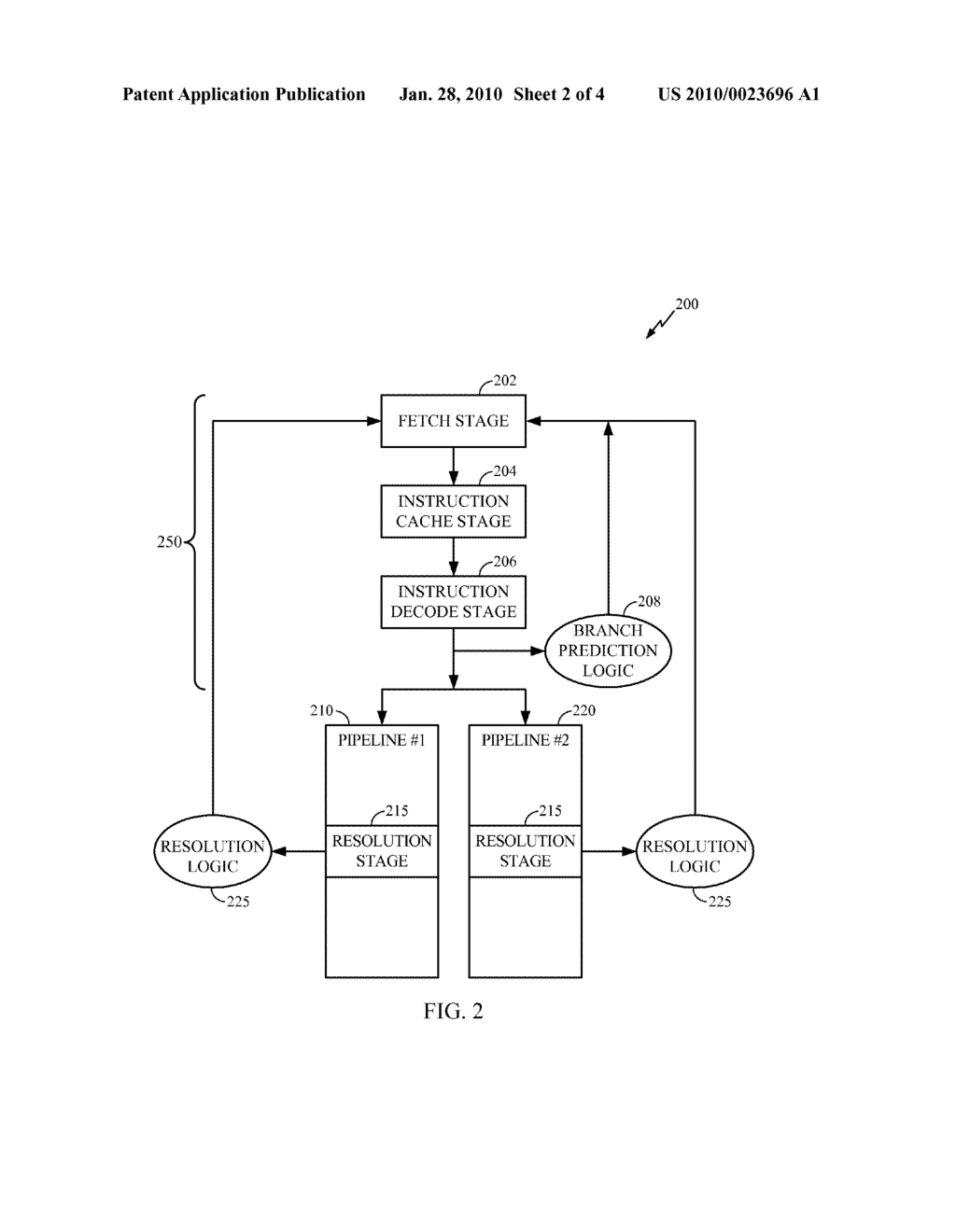 Methods and System for Resolving Simultaneous Predicted Branch Instructions - diagram, schematic, and image 03