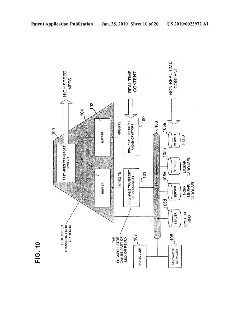 WIDEBAND DIRECT-TO-HOME BROADCASTING SATELLITE COMMUNICATIONS SYSTEM AND METHOD - diagram, schematic, and image 11