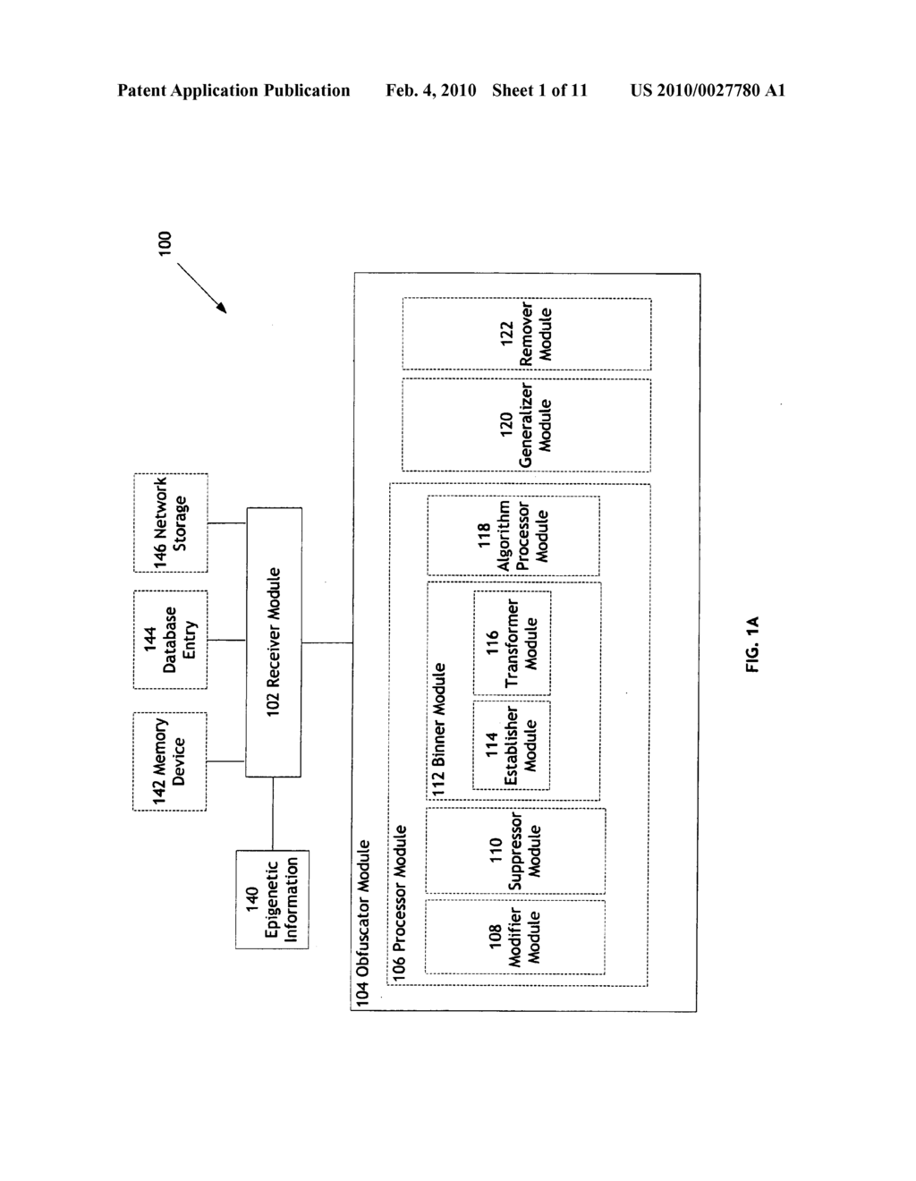 Systems and methods for anonymizing personally identifiable information associated with epigenetic information - diagram, schematic, and image 02