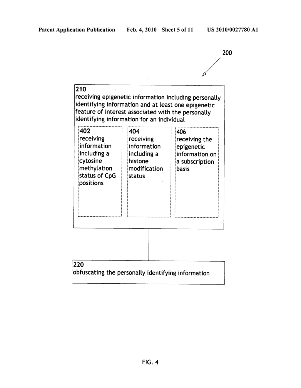 Systems and methods for anonymizing personally identifiable information associated with epigenetic information - diagram, schematic, and image 06
