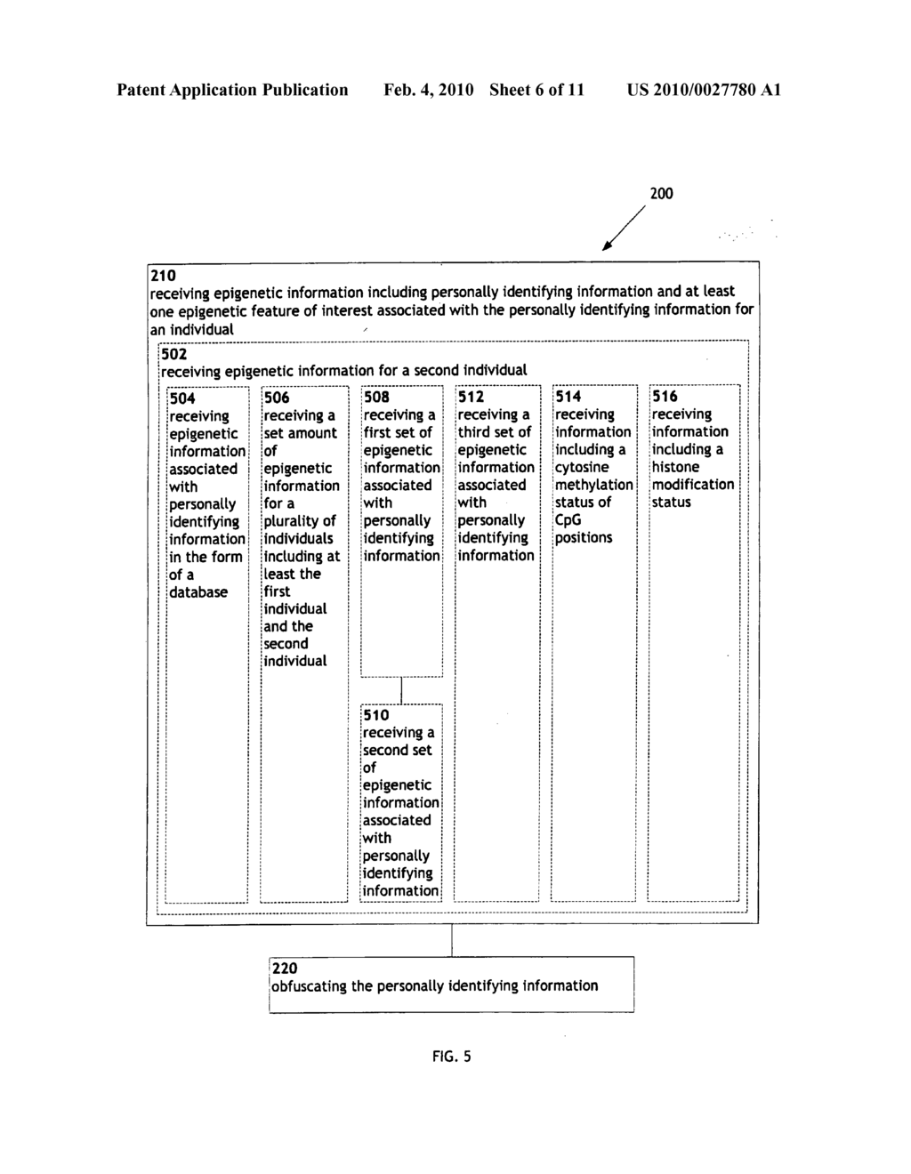 Systems and methods for anonymizing personally identifiable information associated with epigenetic information - diagram, schematic, and image 07