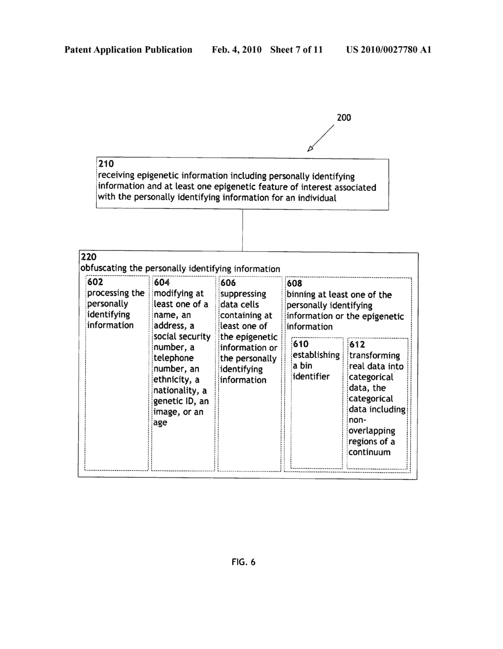 Systems and methods for anonymizing personally identifiable information associated with epigenetic information - diagram, schematic, and image 08