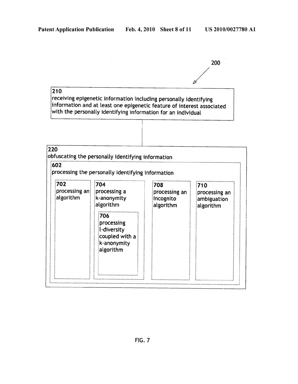Systems and methods for anonymizing personally identifiable information associated with epigenetic information - diagram, schematic, and image 09