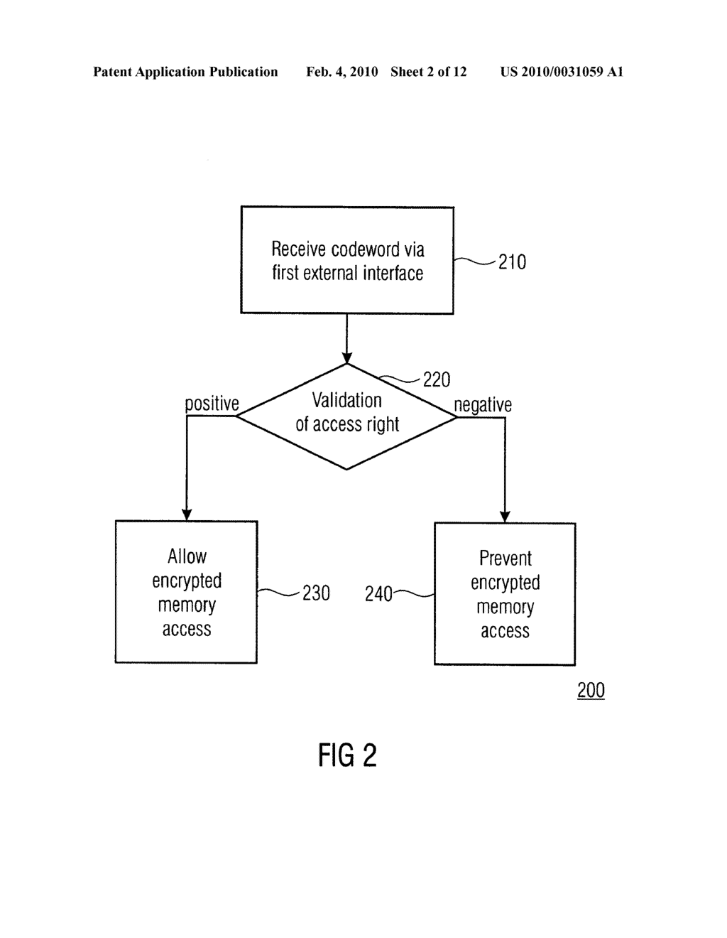 SECURITY DEVICE, SECURE MEMORY SYSTEM AND METHOD USING A SECURITY DEVICE - diagram, schematic, and image 03