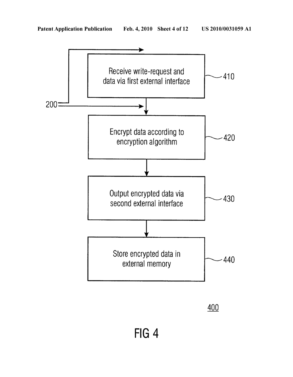 SECURITY DEVICE, SECURE MEMORY SYSTEM AND METHOD USING A SECURITY DEVICE - diagram, schematic, and image 05
