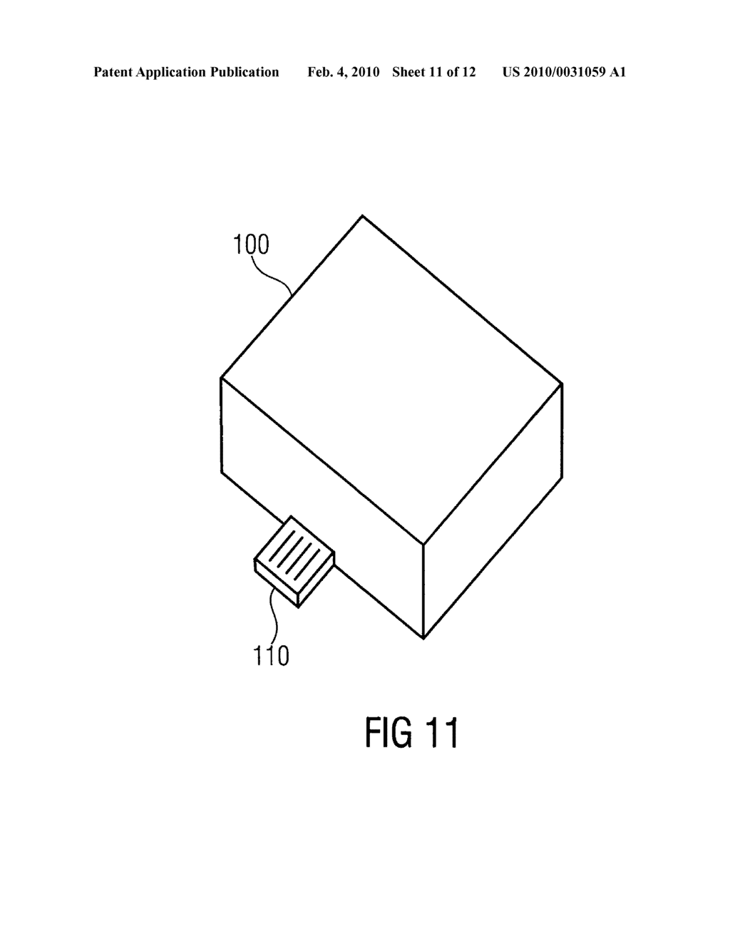 SECURITY DEVICE, SECURE MEMORY SYSTEM AND METHOD USING A SECURITY DEVICE - diagram, schematic, and image 12