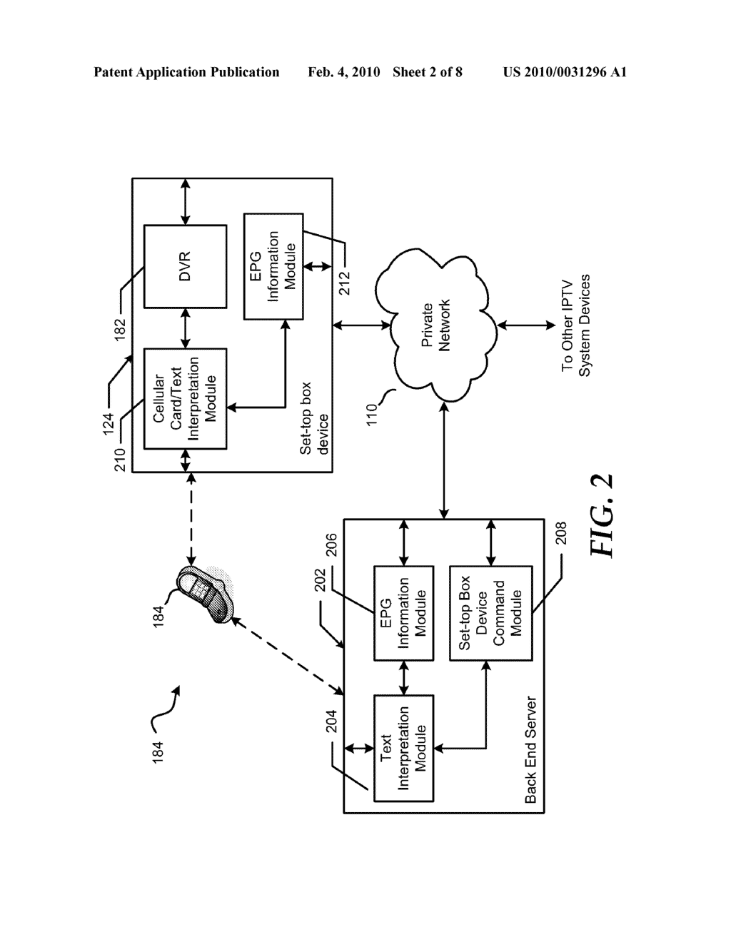 System and Method for Using Short Message Service Text Messaging to Schedule a Recording of a Television Program - diagram, schematic, and image 03