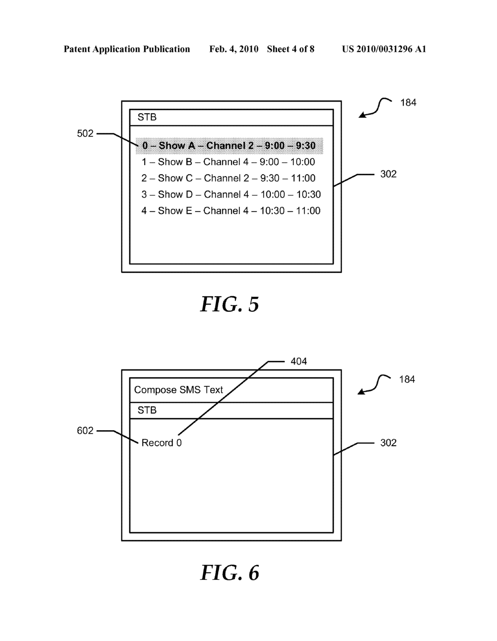 System and Method for Using Short Message Service Text Messaging to Schedule a Recording of a Television Program - diagram, schematic, and image 05