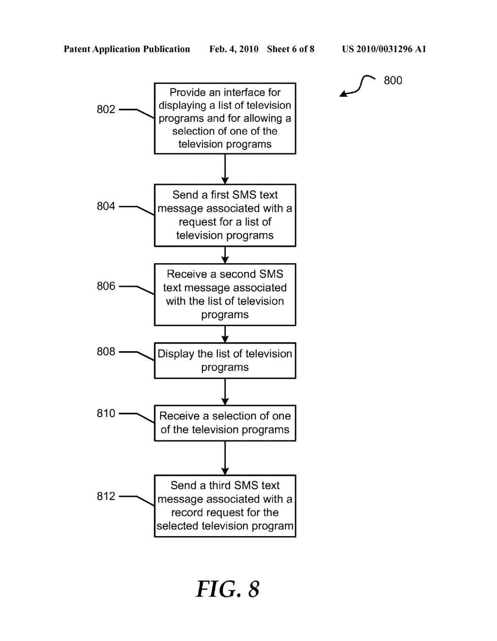 System and Method for Using Short Message Service Text Messaging to Schedule a Recording of a Television Program - diagram, schematic, and image 07