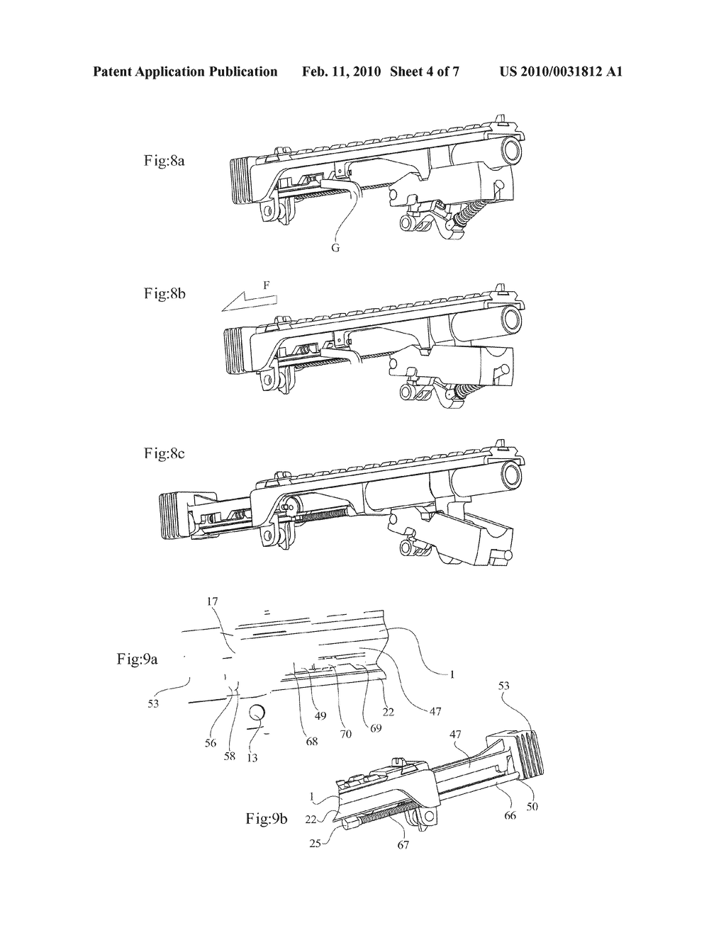 DELAYED BLOWBACK FIREARMS WITH NOVEL MECHANISMS FOR CONTROL OF RECOIL AND MUZZLE CLIMB - diagram, schematic, and image 05