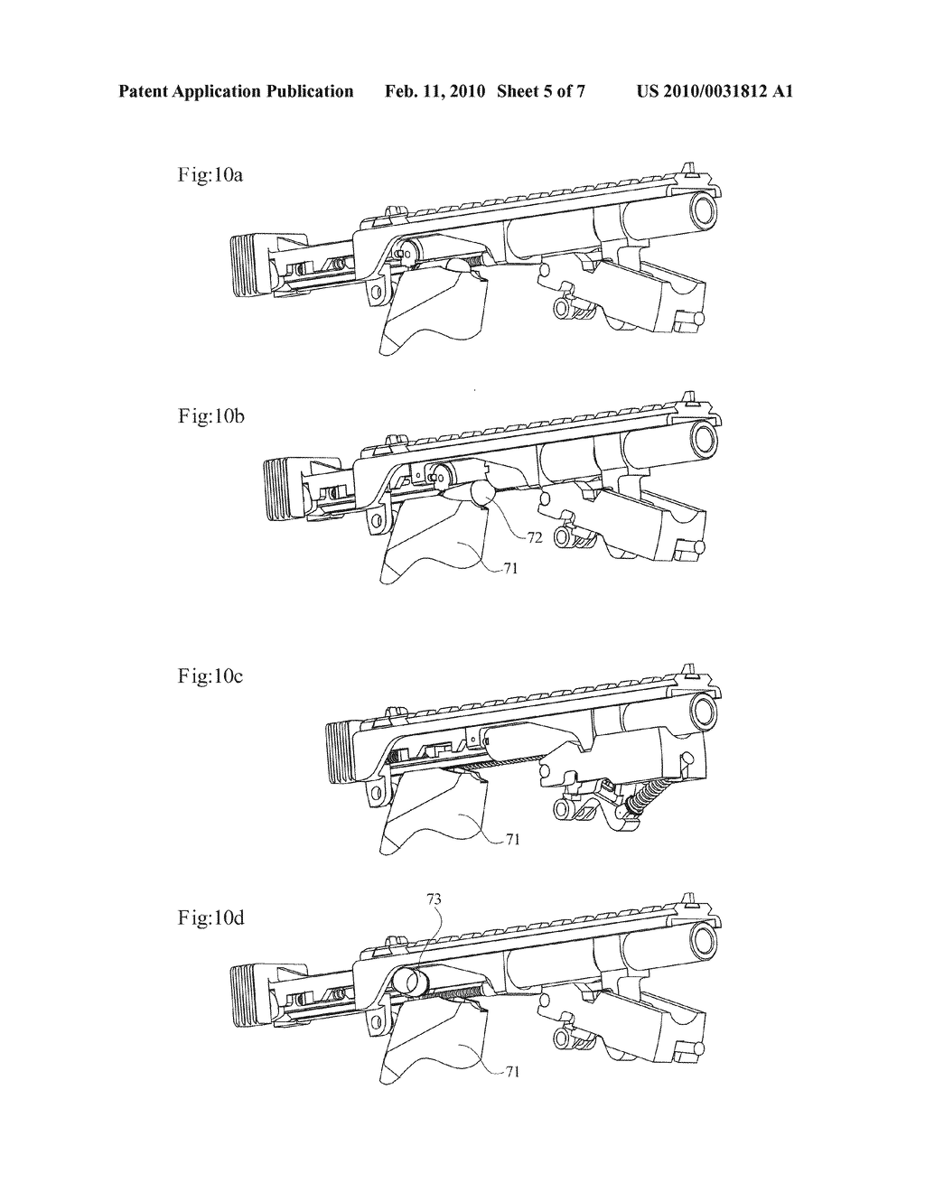 DELAYED BLOWBACK FIREARMS WITH NOVEL MECHANISMS FOR CONTROL OF RECOIL AND MUZZLE CLIMB - diagram, schematic, and image 06