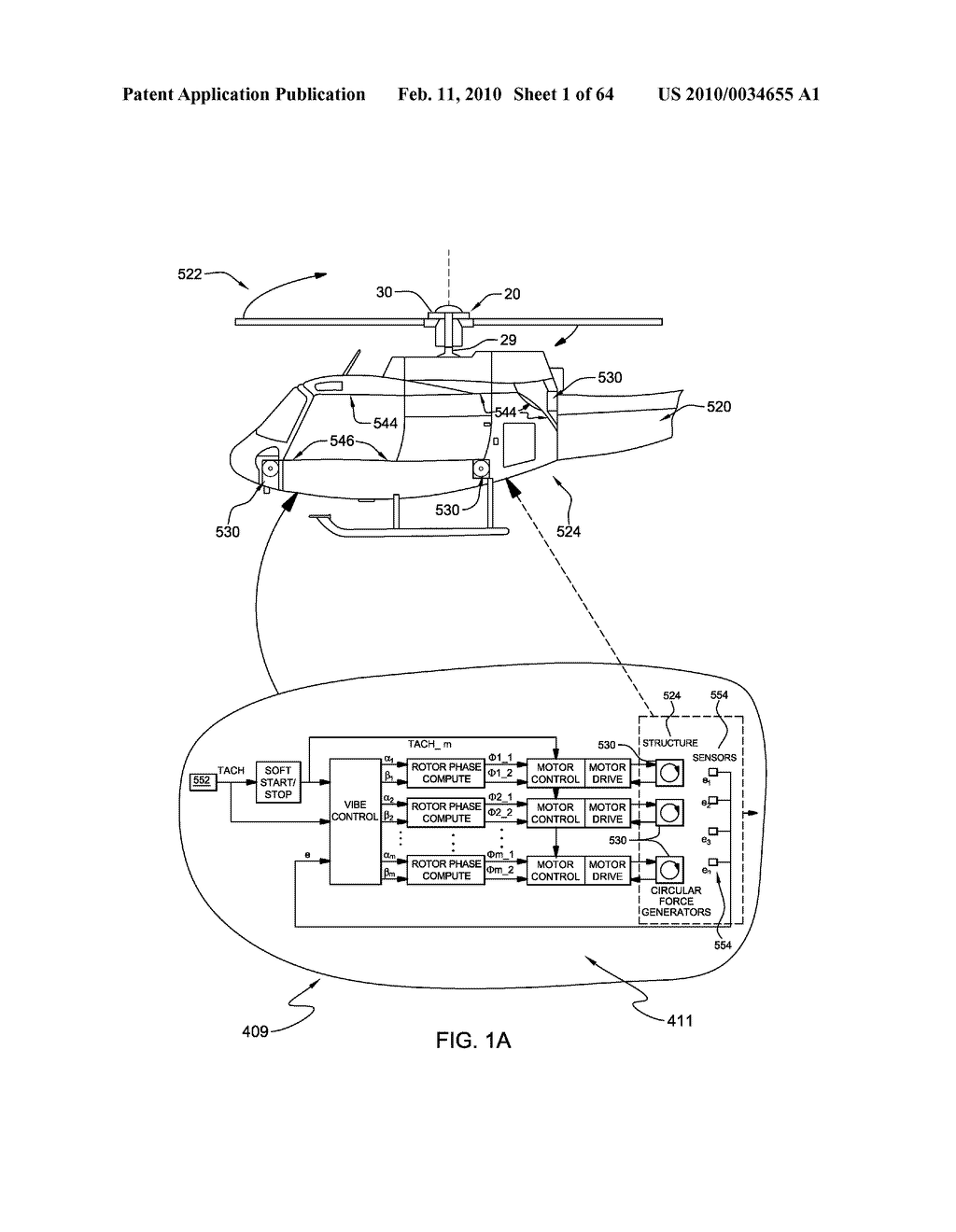 HELICOPTER HUB MOUNTED VIBRATION CONTROL AND CIRCULAR FORCE GENERATION SYSTEMS FOR CANCELING VIBRATIONS - diagram, schematic, and image 02