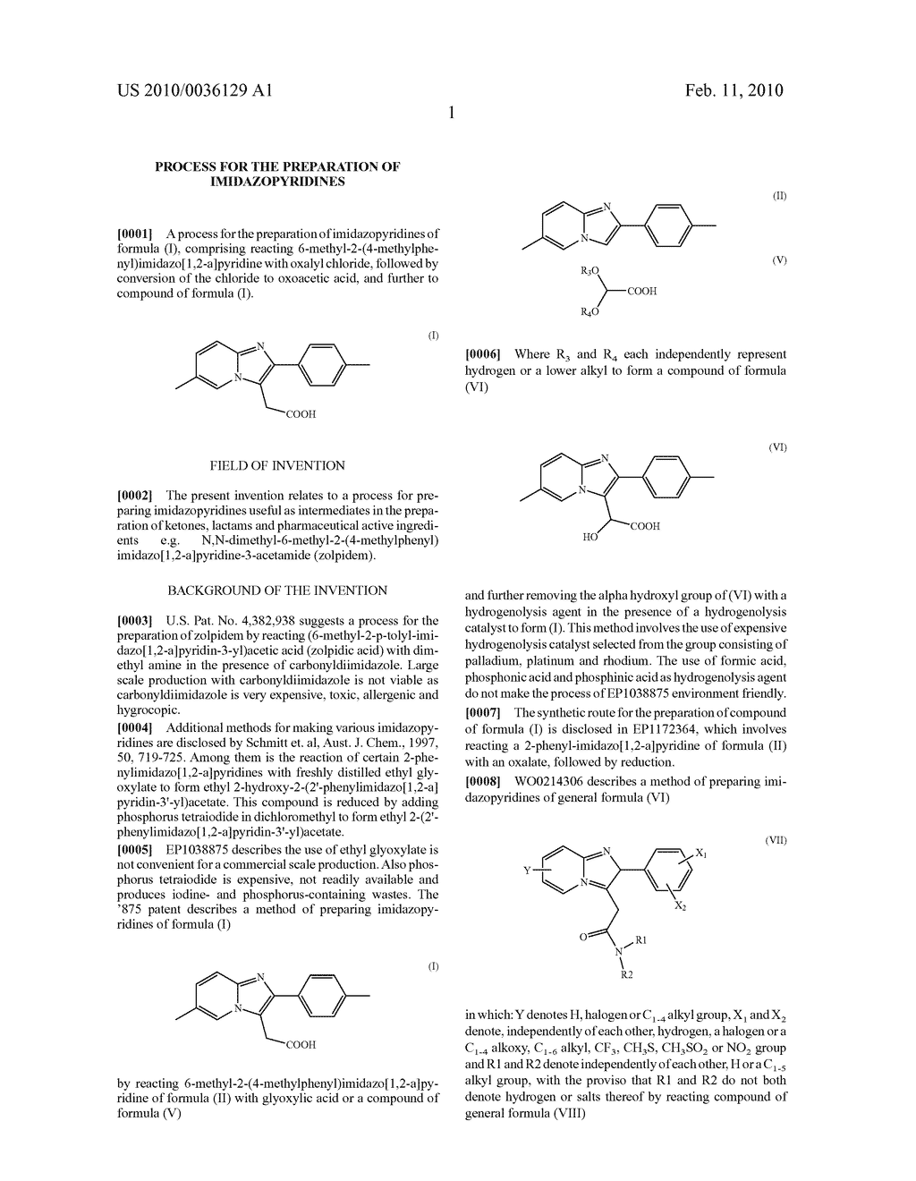 PROCESS FOR THE PREPARATION OF IMIDAZOPYRIDINES - diagram, schematic, and image 02