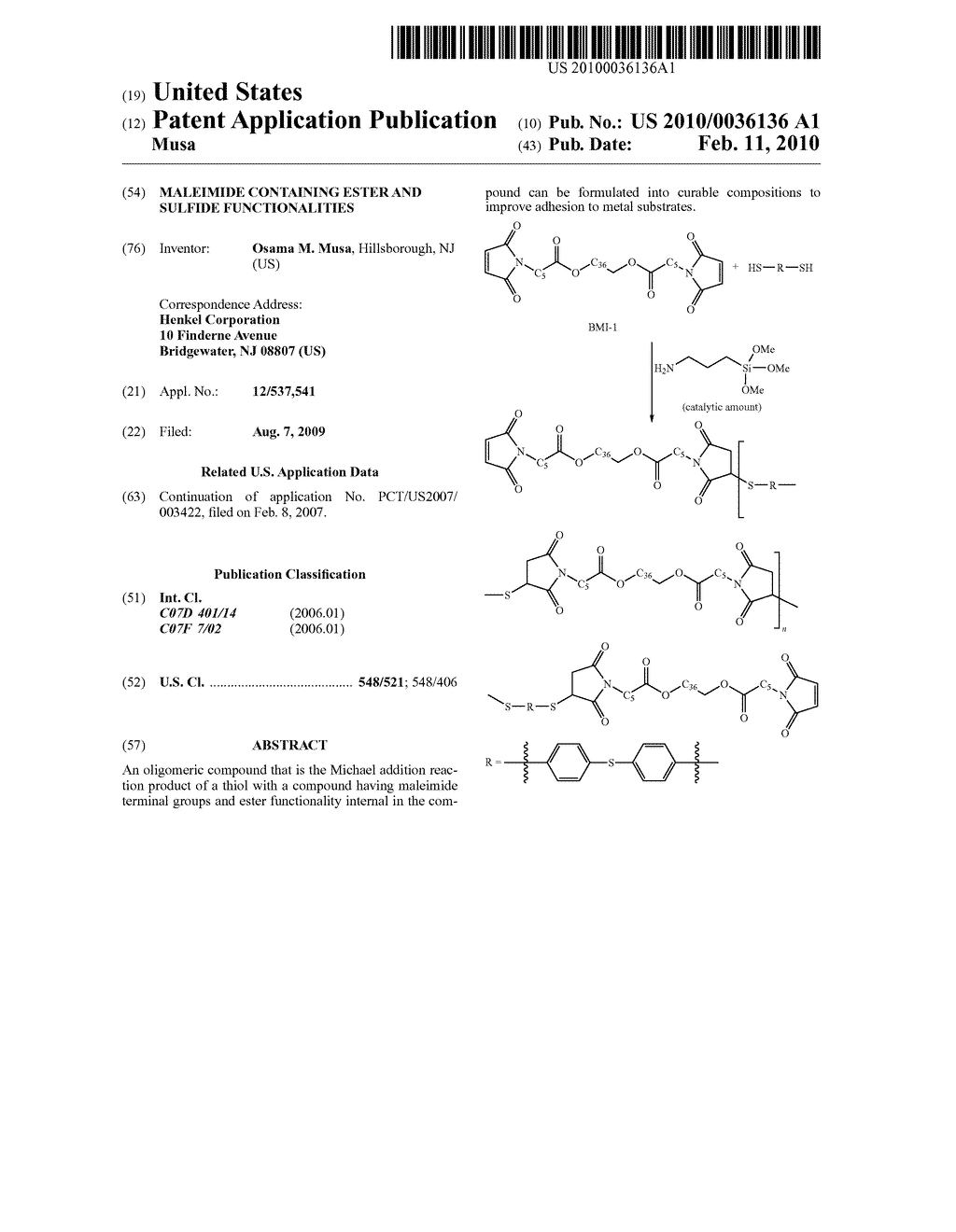 Maleimide Containing Ester and Sulfide Functionalities - diagram, schematic, and image 01