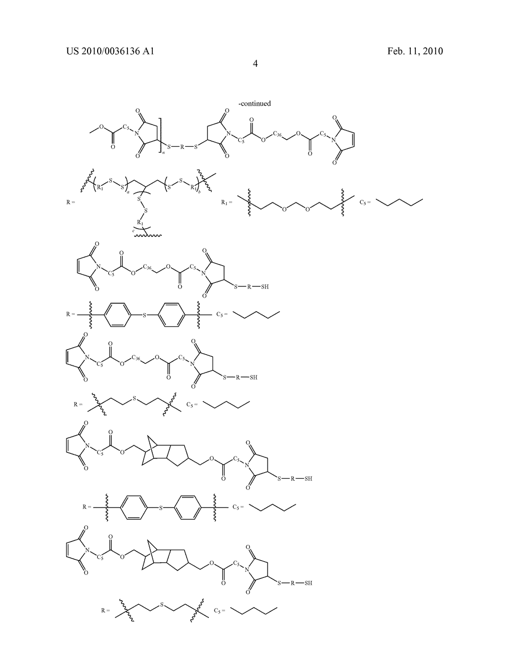 Maleimide Containing Ester and Sulfide Functionalities - diagram, schematic, and image 05