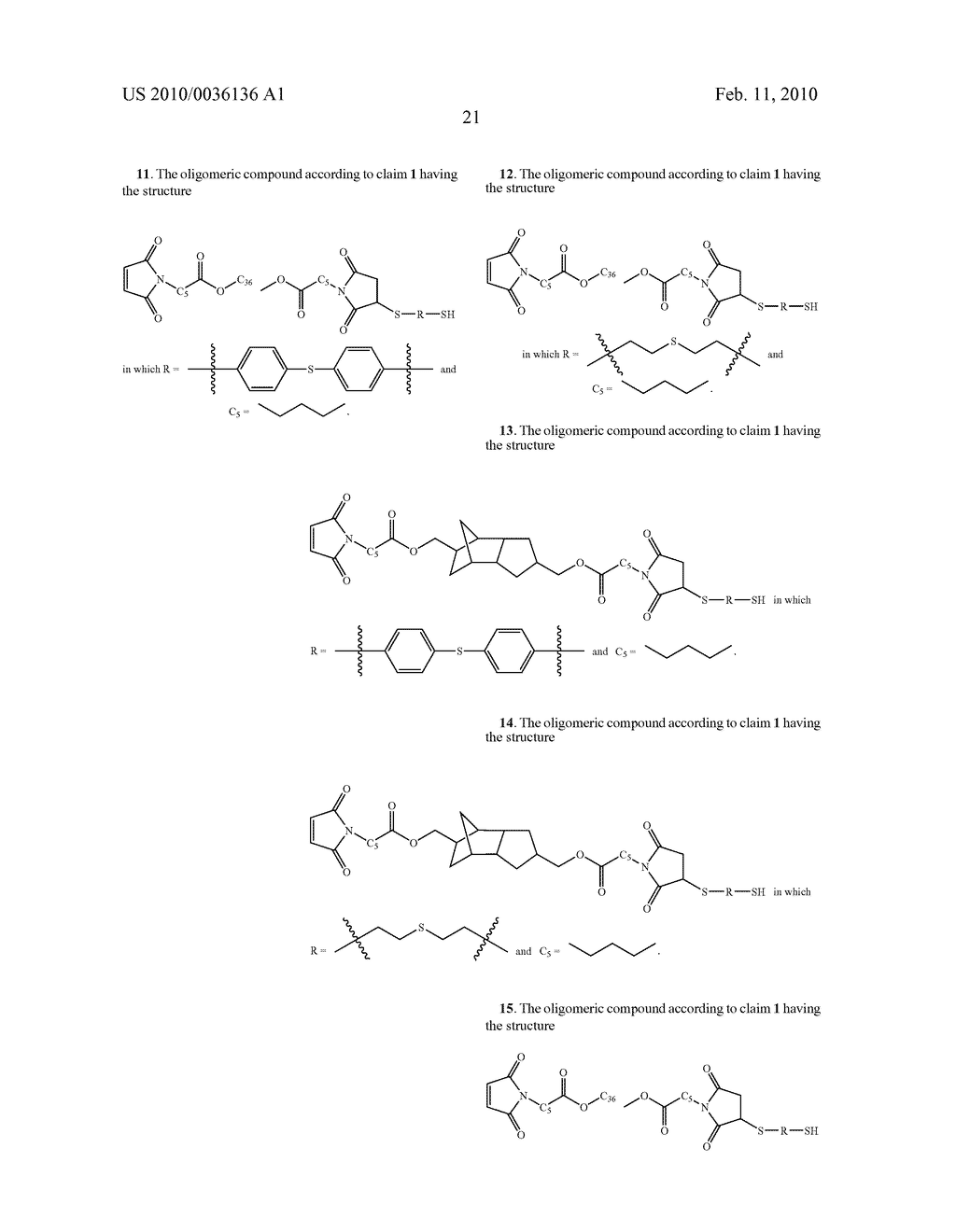 Maleimide Containing Ester and Sulfide Functionalities - diagram, schematic, and image 22