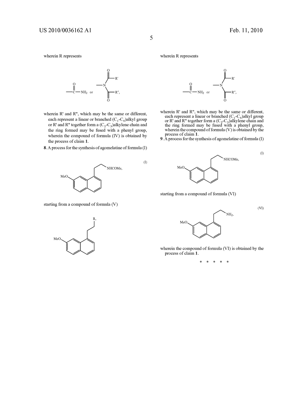 Process for the synthesis of agomelatine - diagram, schematic, and image 06