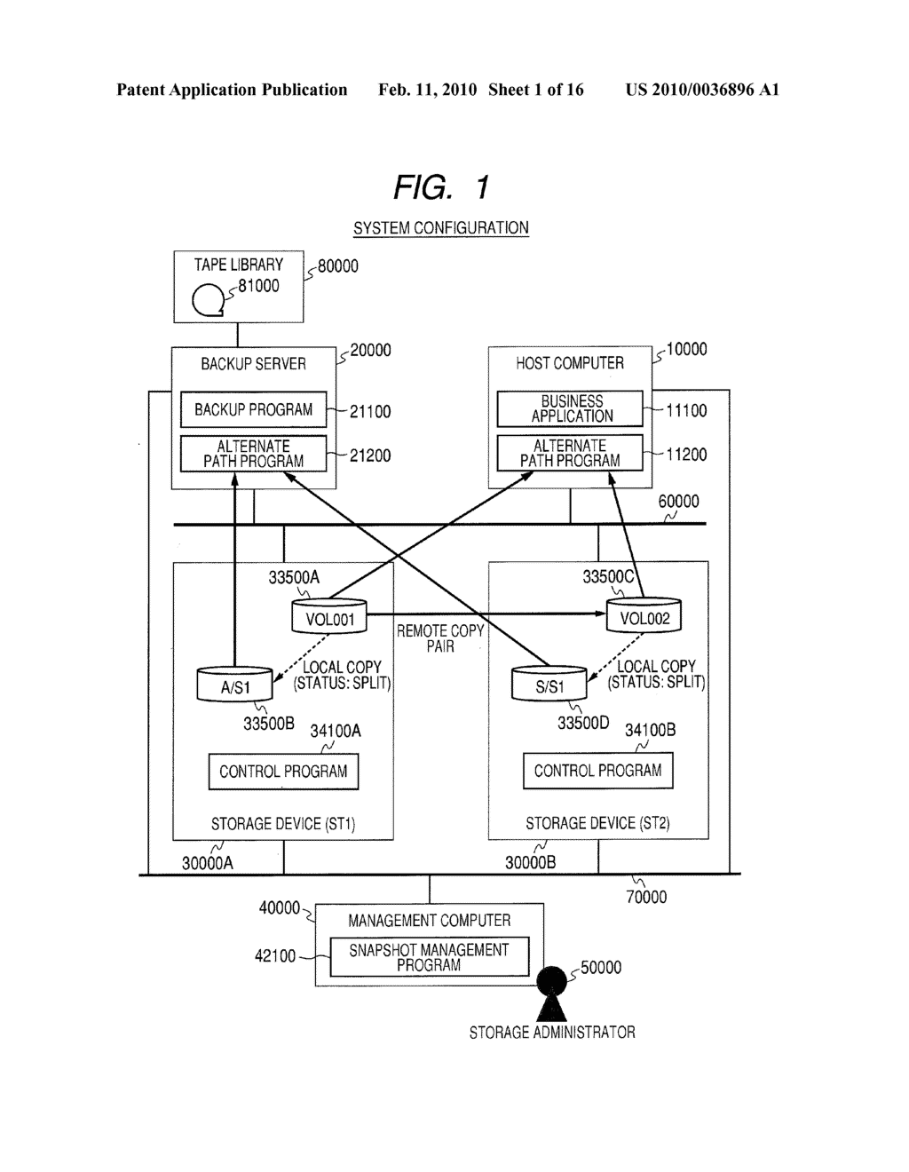 Computer System and Method of Managing Backup of Data - diagram, schematic, and image 02