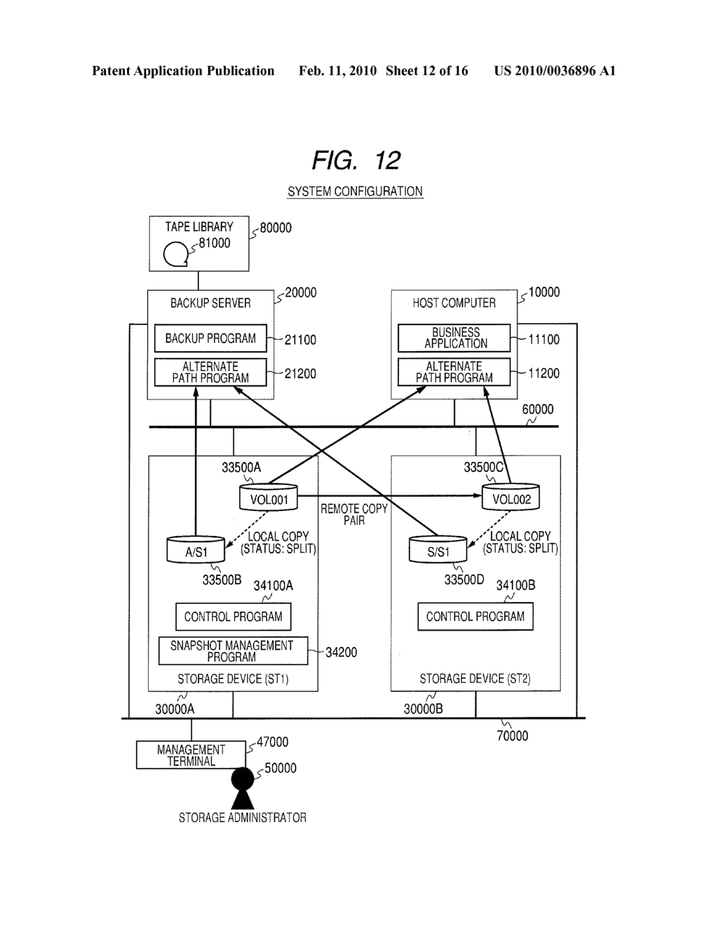 Computer System and Method of Managing Backup of Data - diagram, schematic, and image 13