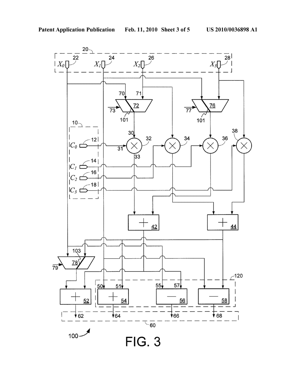 COMPUTING MODULE FOR EFFICIENT FFT AND FIR HARDWARE